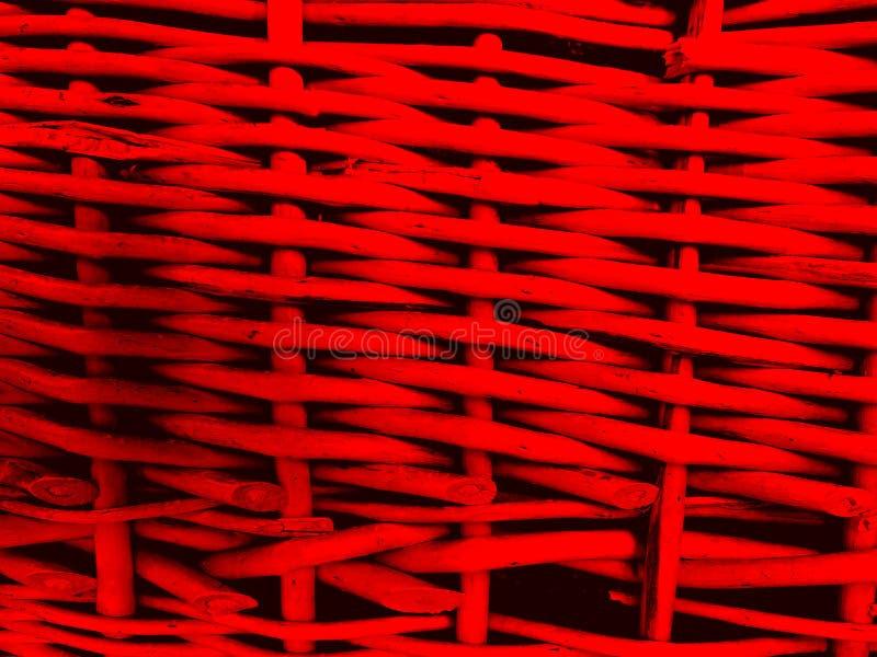 Fundo vermelho Textured dos galhos do withe imagem de stock royalty free