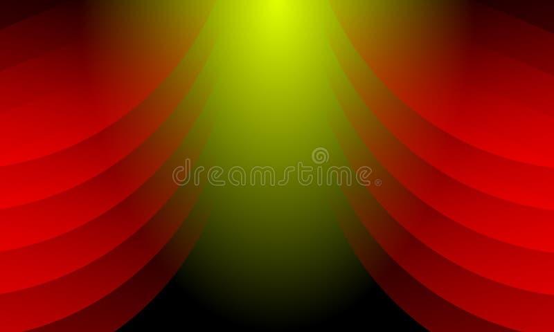 Fundo vermelho, verde e preto abstrato colorido Ilustração do vetor ilustração royalty free