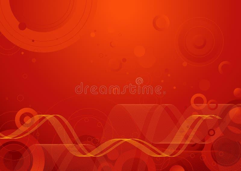 fundo vermelho, vetor ilustração stock