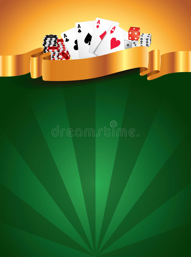 Fundo vertical luxuoso verde do casino ilustração stock