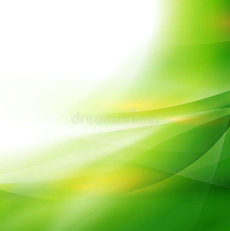 Fundo, vetor & ilustração verdes lisos abstratos do fluxo ilustração royalty free