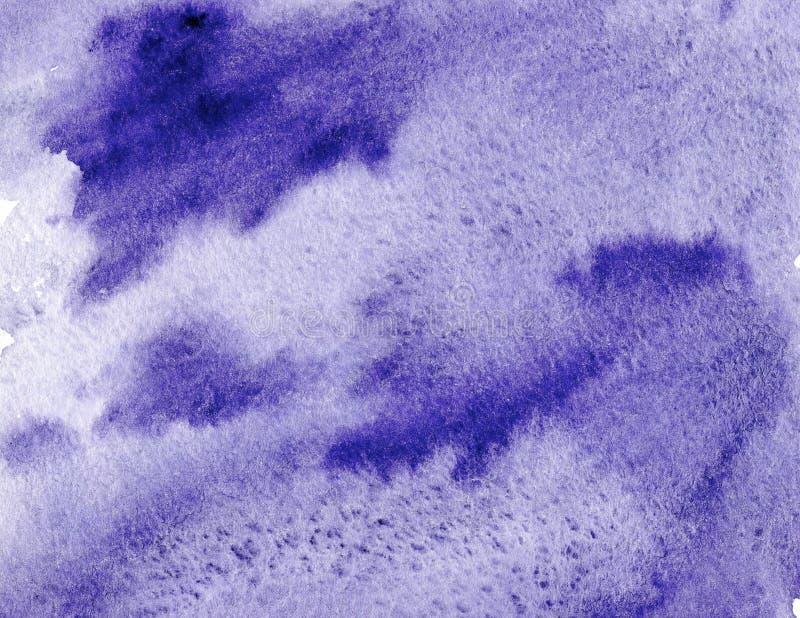 Fundo violeta abstrato da aquarela Tela decorativa imagem de stock