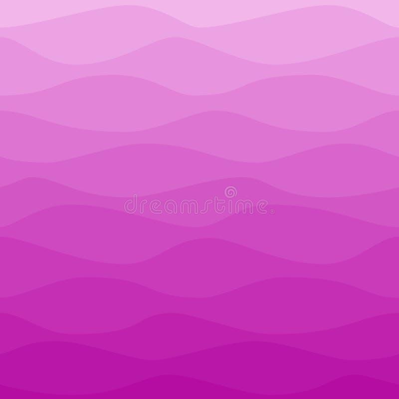 Fundo violeta cor-de-rosa ondulado gradual ilustração stock
