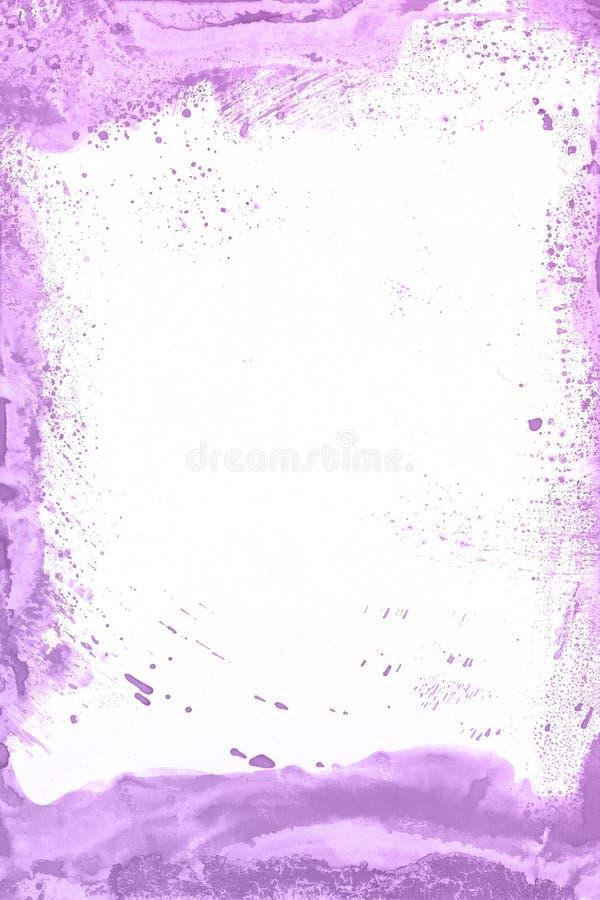Fundo violeta da pintura da aquarela Mão mágica da arte tirada foto de stock