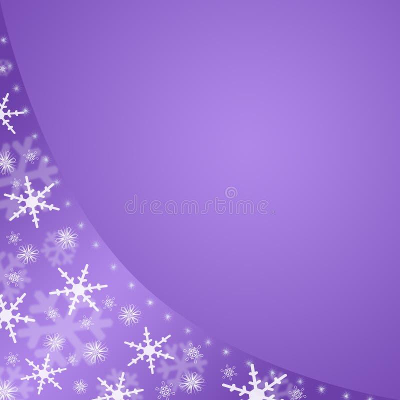 Fundo violeta do inverno ilustração royalty free