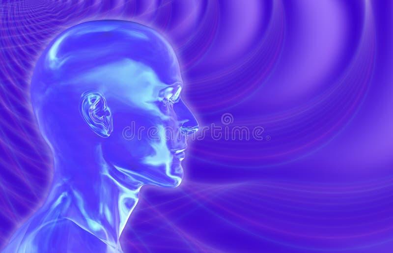 Fundo violeta dos Brainwaves ilustração royalty free