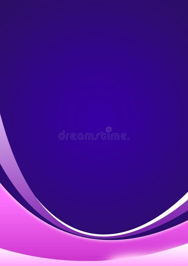 Fundo violeta mágico ilustração do vetor