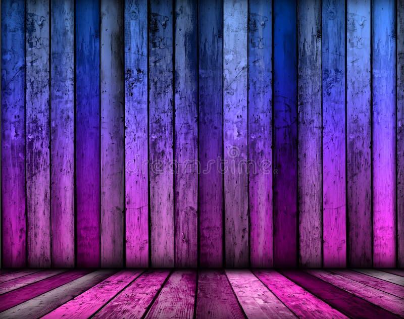 Fundo violeta mágico do quarto fotos de stock royalty free