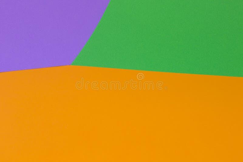 Fundo violeta verde alaranjado brilhante fotografia de stock