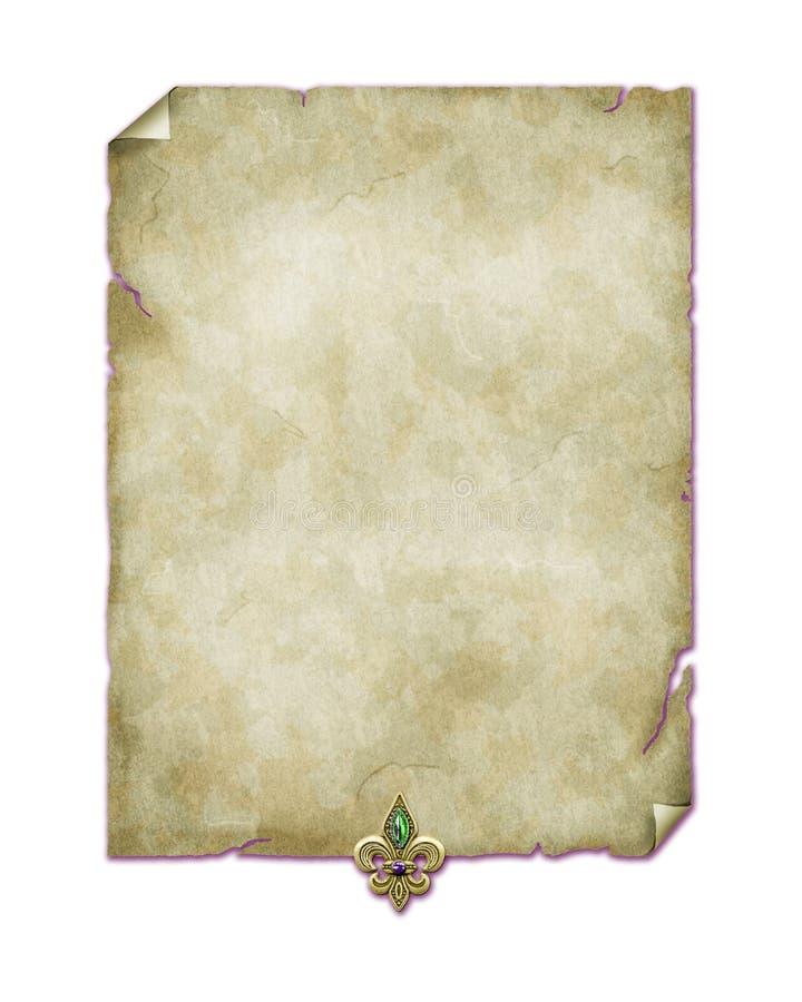 Fundo vitoriano do papel de parede da joia do damasco do papel de pergaminho ilustração do vetor