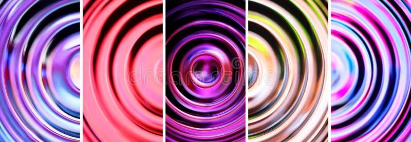 Fundos abstratos com círculos concêntricos defocused fotografia de stock royalty free