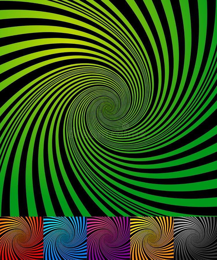 Fundos abstratos com redemoinho, forma espiral ilustração do vetor