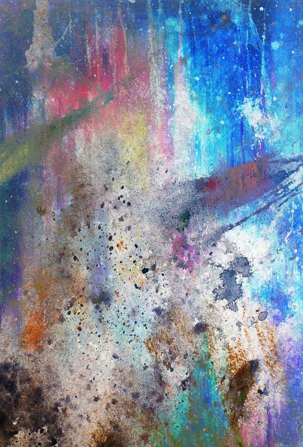 Fundos abstratos da cor, colagem de pintura com pontos, st da oxidação ilustração stock