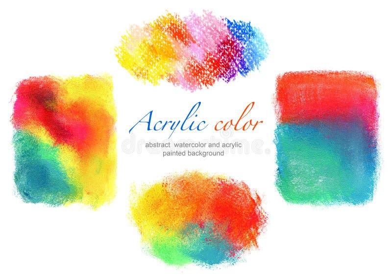 Fundos abstratos do acrílico e da aquarela do círculo imagem de stock royalty free