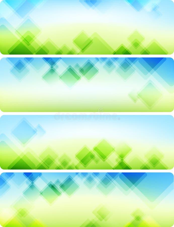 Fundos abstratos do ar. Quatro bandeiras. ilustração stock