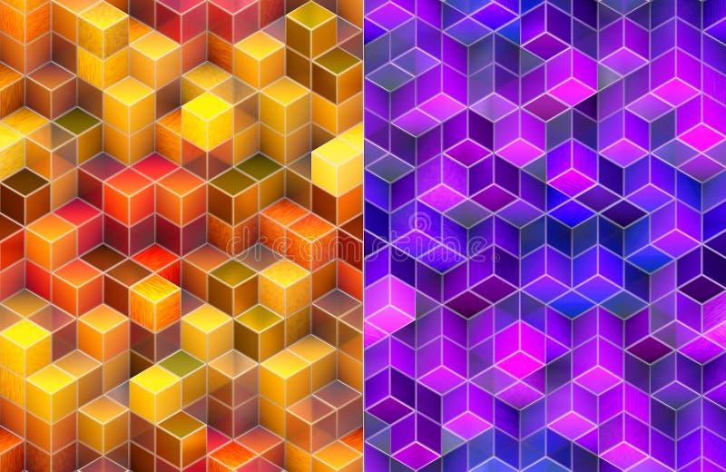 Fundos abstratos do cubo 3d ilustração do vetor
