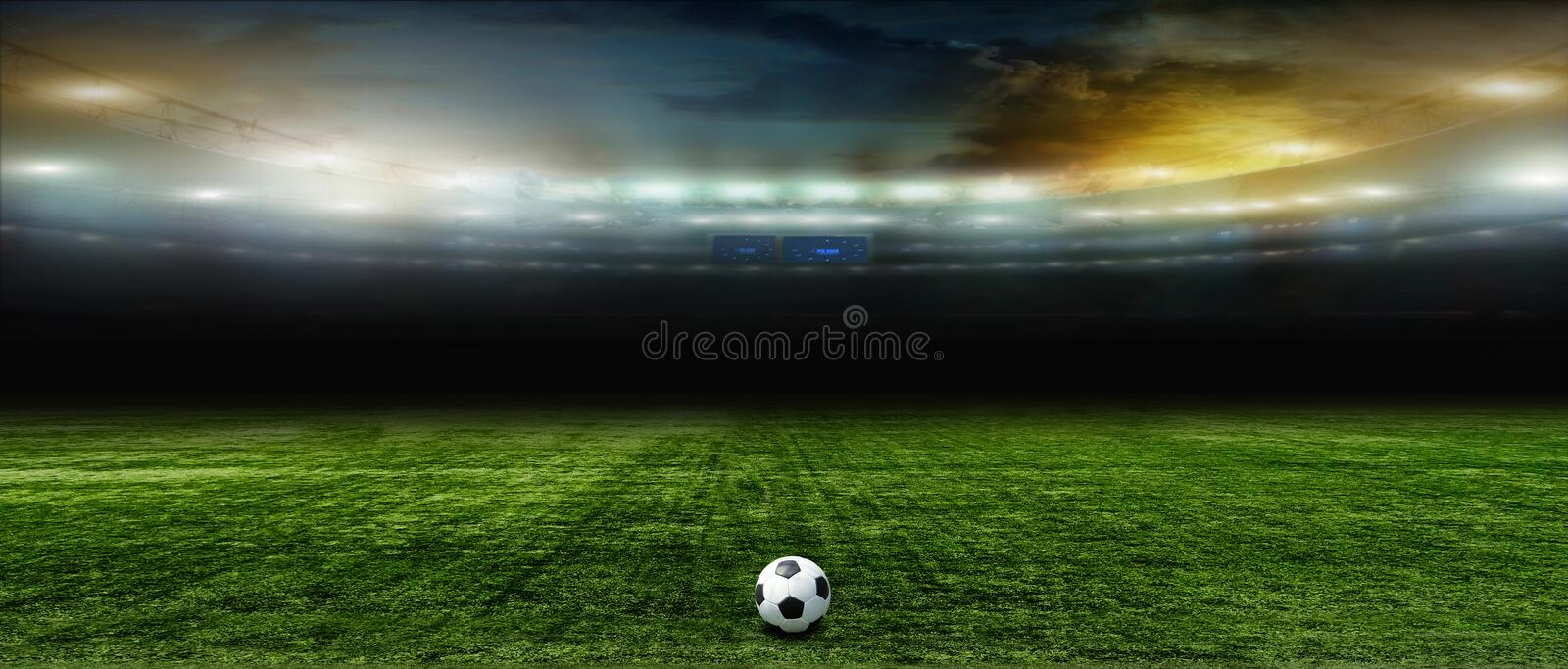 Fundos abstratos do futebol ou do futebol fotografia de stock royalty free