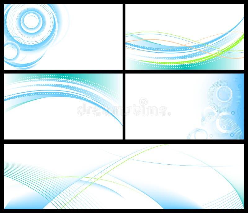 Fundos azuis abstratos ajustados ilustração royalty free