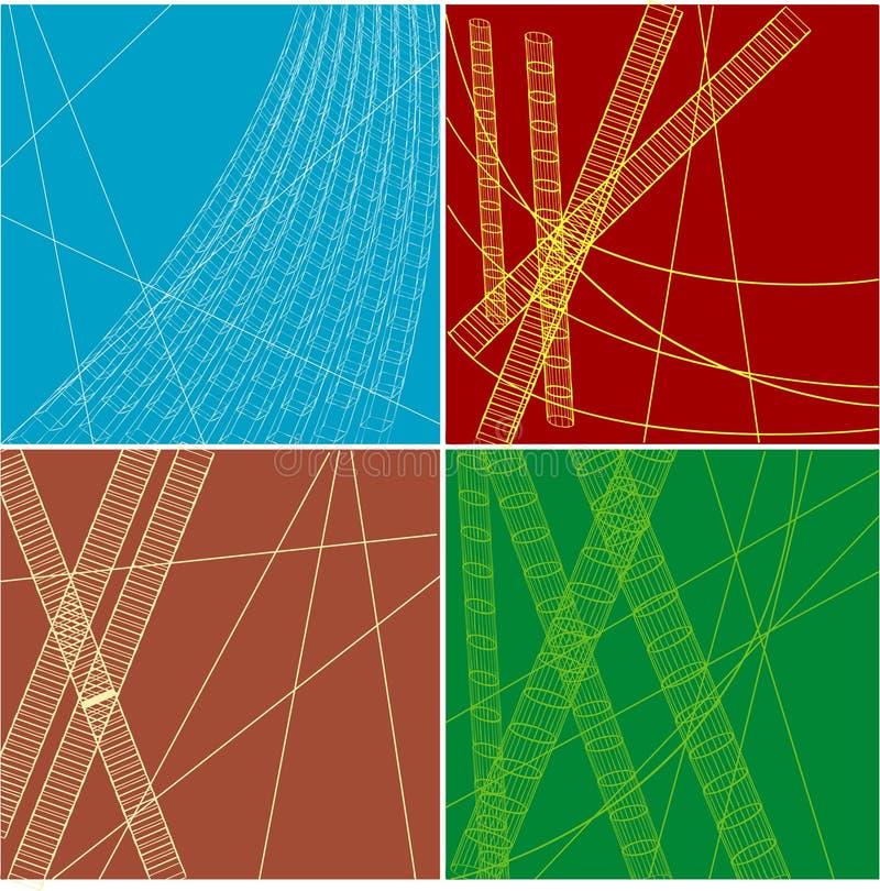 Fundos coloridos abstratos ilustração stock