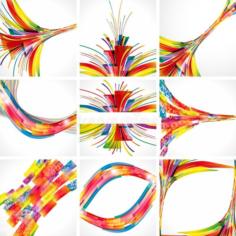 Fundos coloridos abstratos. ilustração do vetor