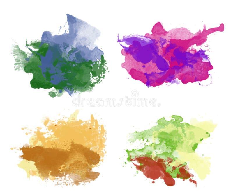 Fundos coloridos da aquarela ilustração stock