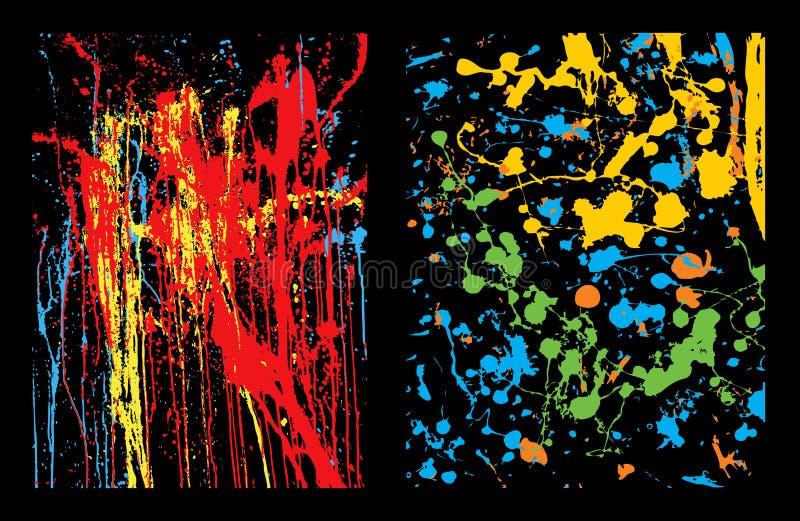 Fundos coloridos do splatter ilustração royalty free