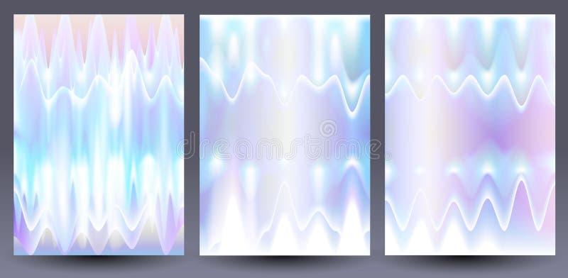 Fundos coloridos holográficos ajustados ilustração stock