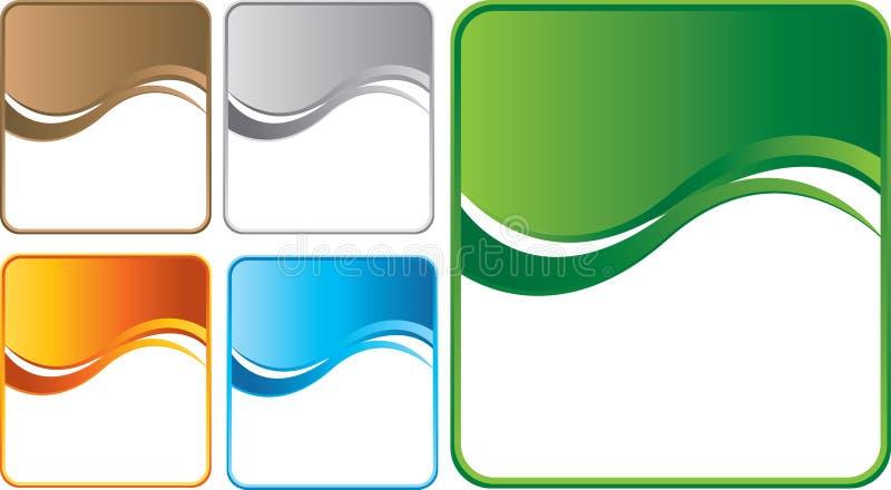 Fundos coloridos múltiplos da onda ilustração do vetor