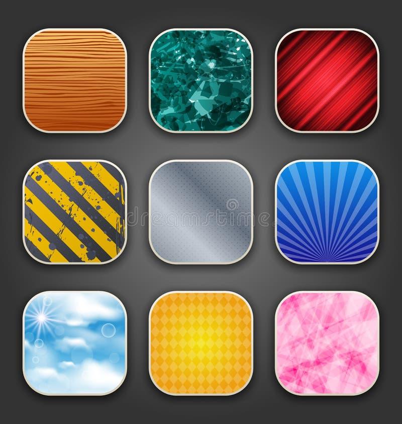 Fundos com textura para os ícones do app ilustração royalty free