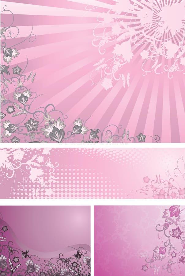 Fundos cor-de-rosa e roxos ilustração royalty free
