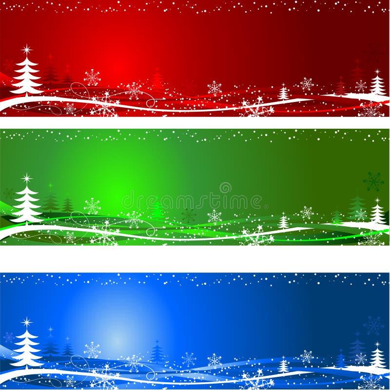 Fundos da árvore de Natal ilustração do vetor
