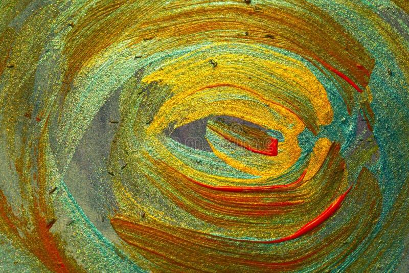 Fundos da arte abstrato: Pintado à mão de cursos e de spl da escova ilustração stock