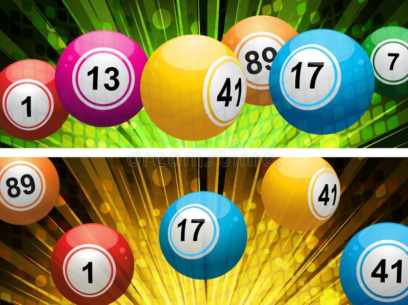 Fundos da lotaria da esfera do Bingo ilustração stock