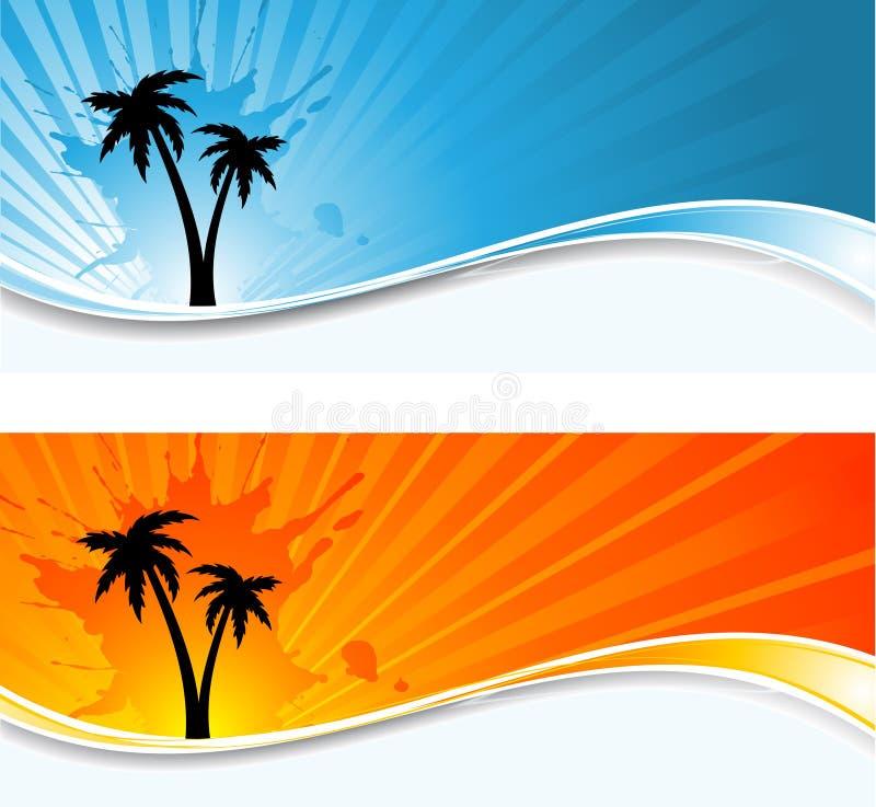 Fundos da palmeira ilustração do vetor