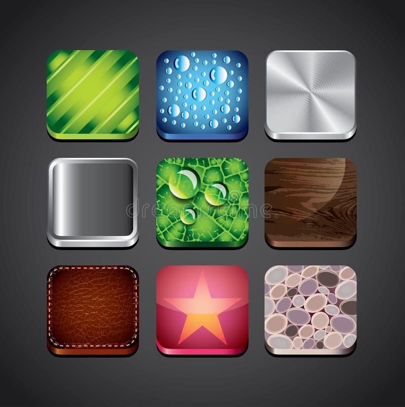 Fundos da textura para ícones do app ilustração royalty free