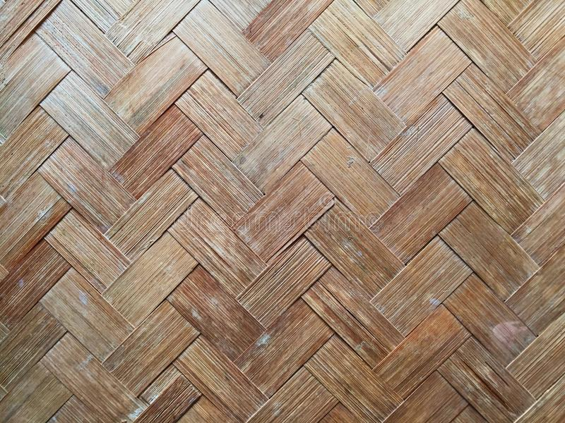Fundos de bambu da textura da parede fotografia de stock