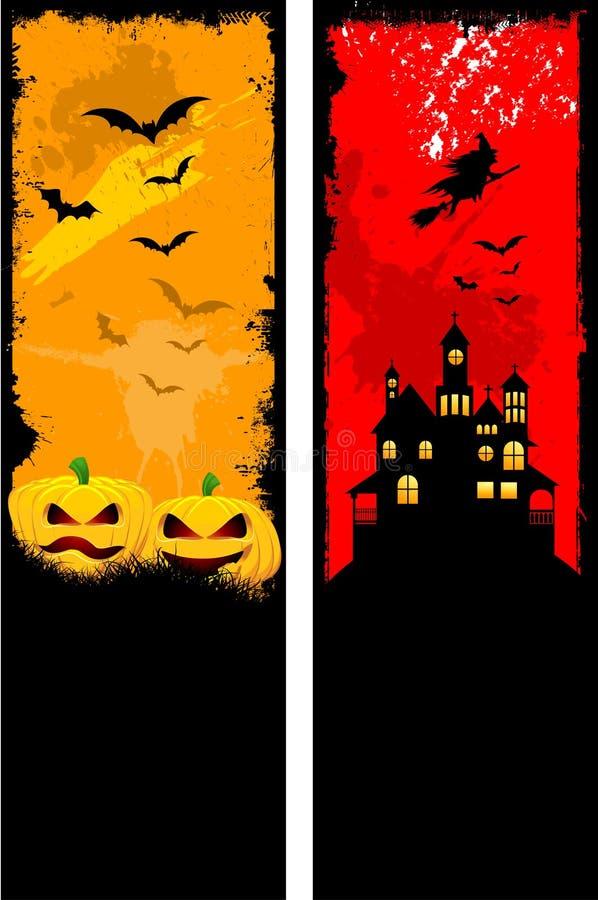 Fundos de Grunge Halloween ilustração royalty free
