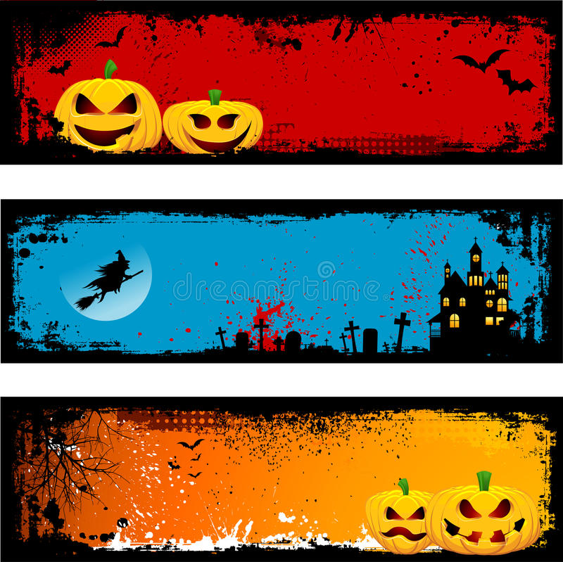 Fundos de Grunge Halloween ilustração stock