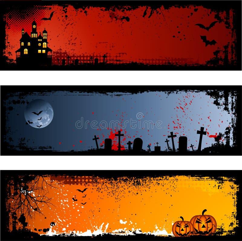 Fundos de Halloween ilustração royalty free