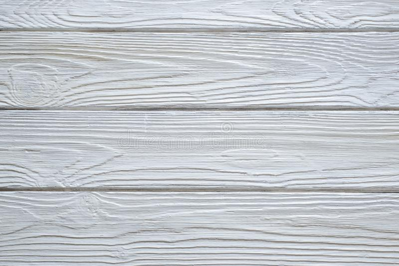 Fundos de madeira brancos da textura fotos de stock