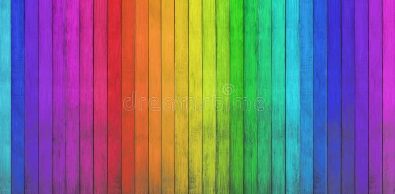 Fundos de madeira coloridos imagem de stock