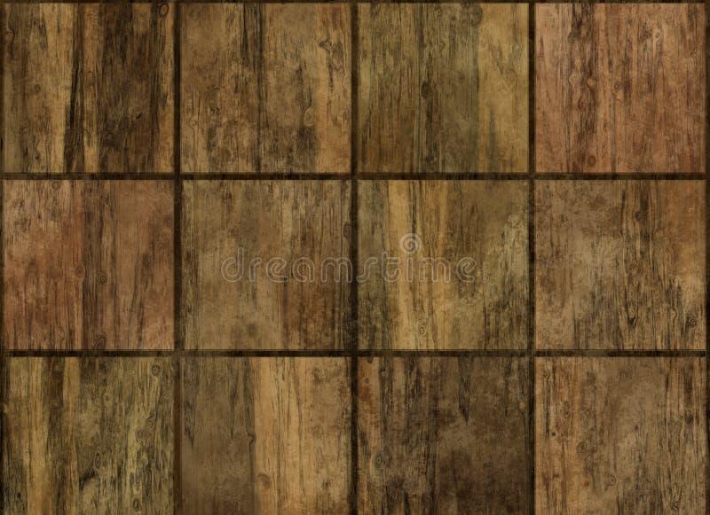 Fundos de madeira quadrados do painel do revestimento ilustração royalty free