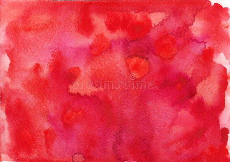 Fundos de papel vermelhos do franco da textura da aquarela fotos de stock royalty free