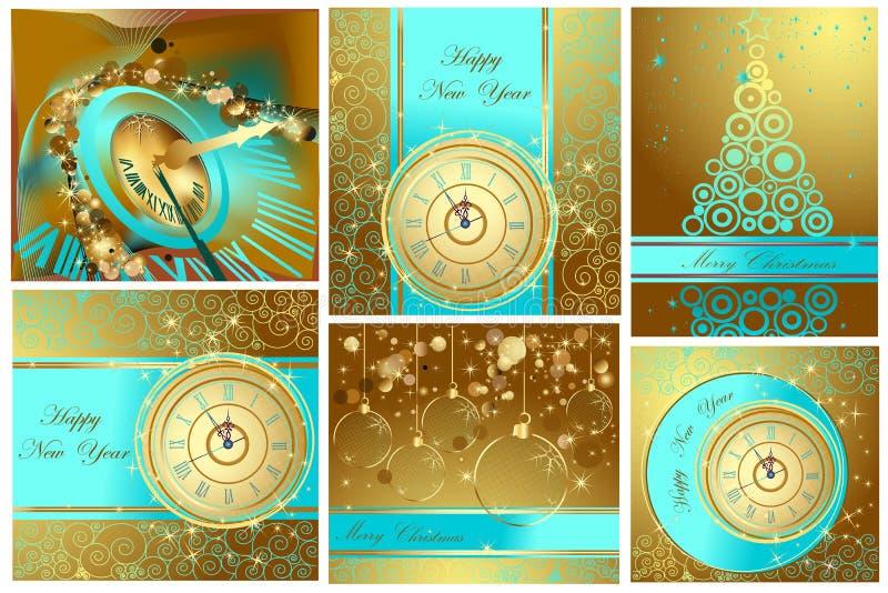 Fundos do ano novo feliz e do Feliz Natal ilustração royalty free