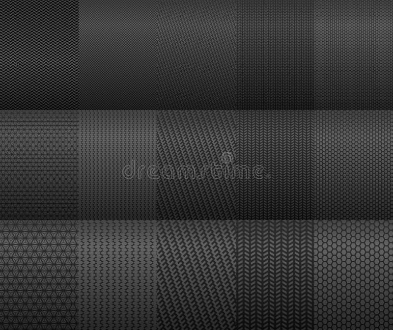 Fundos do carbono e da fibra ilustração stock