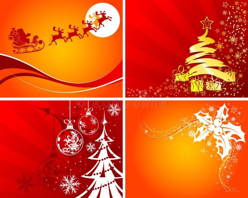 Fundos do Natal ilustração royalty free