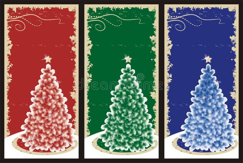 Fundos do Natal de Grunge ilustração do vetor
