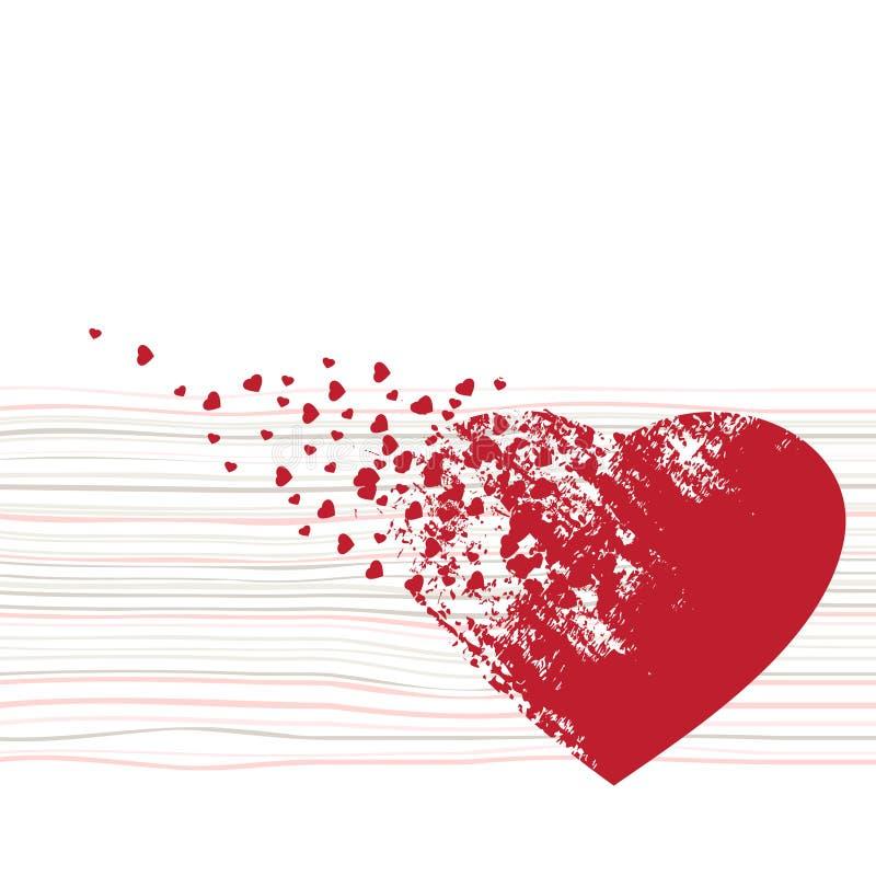 Fundos do Valentim ilustração stock