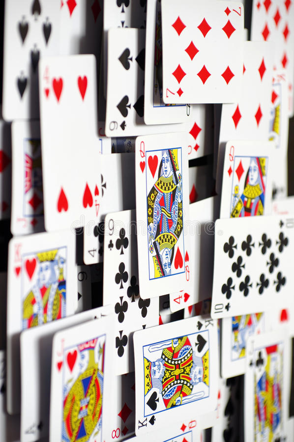 Fundos 2 dos cartões de jogo fotos de stock royalty free