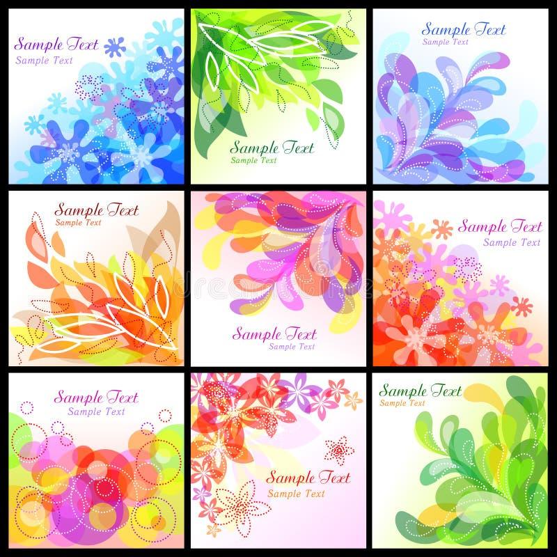 Fundos florais abstratos ilustração stock
